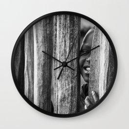 Masai peek-a-boo Wall Clock