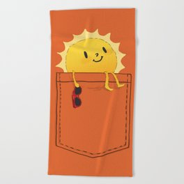 Pocketful of sunshine Beach Towel