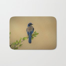 Bluebird of my Happy Space by Reay of Light Bath Mat