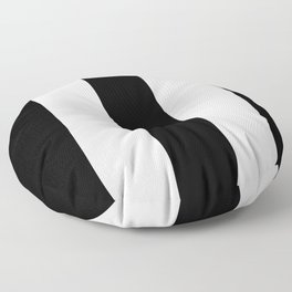 Black and white stripe Floor Pillow