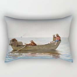 Winslow Homer1 - Three Boys In A Dory With Lobster Pots - Digital Remastered Edition Rectangular Pillow