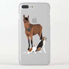 2 Dogs and a Horse Clear iPhone Case