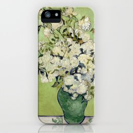 Vase of Roses by Vincent Van Gogh iPhone Case