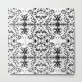81 - abstract black and white garden pattern Metal Print