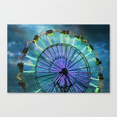 Skydiver at night Canvas Print
