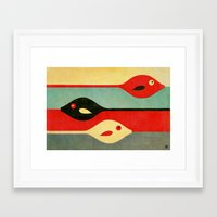 fish Framed Art Prints featuring Three Fish in My Mind by Fernando Vieira