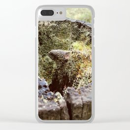 Natural Fairyland Treestump Clear iPhone Case