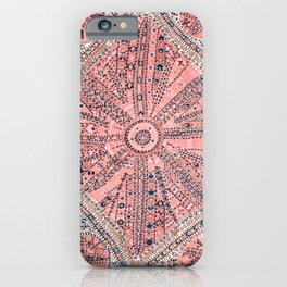 Light Pink Wildflower Sunshine II // 18th Century Colorful Pinkish Dusty Blue Gray Positive Pattern iPhone Case