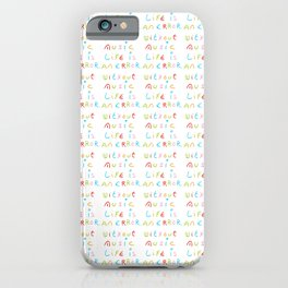 without music life is an error iPhone Case
