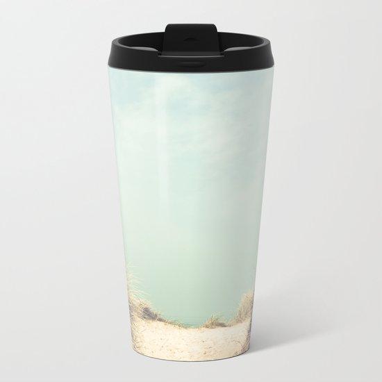 The Way To The Beach Metal Travel Mug