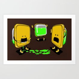 Radioactive Tupper Art Print