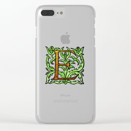 Monogram Alphabet Letter Design 'E' Clear iPhone Case