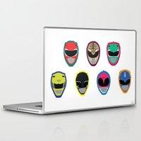power rangers Laptop & iPad Skins featuring Rangers by Ocelotdude Designs