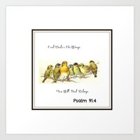 bible verse Art Prints featuring Birds bible verse by Sweetie's Slice of Life