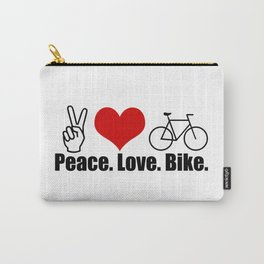 Peace Love Bike Carry-All Pouch