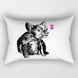Bulldog Puppy Valentine Rectangular Pillow