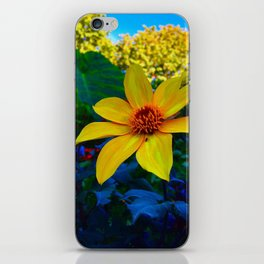 Yellow Summer Flower iPhone Skin