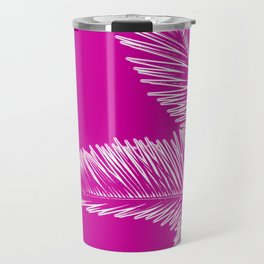 Pink Palm Trees in Minimalism Travel Mug