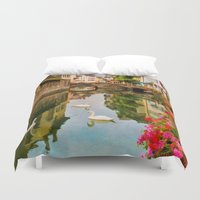 france Duvet Covers featuring Annecy France by Jean-Pierre Ducondi