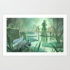 The Holy River Art Print