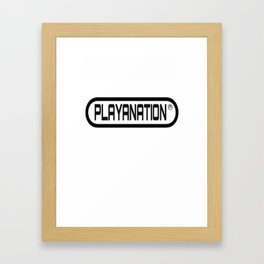 PlayaNation BW 2-Tone Framed Art Print