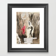 Little Red and Great Auk Framed Art Print