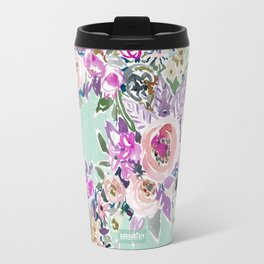 Mint SO LUSCIOUS Painterly Floral Travel Mug
