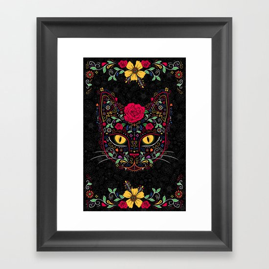 Day of the Dead Kitty Cat Sugar Skull by zjunebug