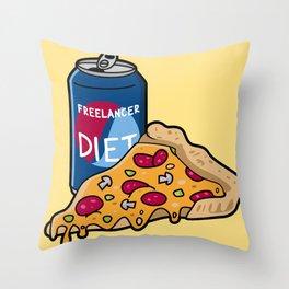 Freelancer diet Throw Pillow