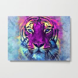 tiger purple spirit #tiger Metal Print