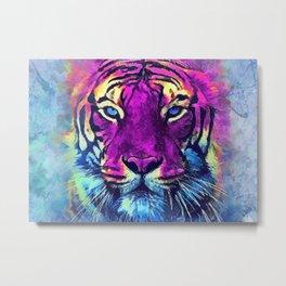 tiger purple spirit #tiger Metal Print