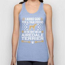 Airedale Terrier Dog Lovers True Friend Unisex Tank Top