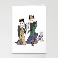 destiel Stationery Cards featuring Holy Hell Destiel - SPN by venuscas