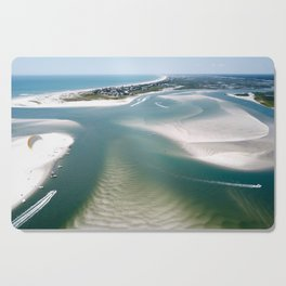 Rich's Inlet at the North End of Figure 8 Island | Wilmington NC Cutting Board
