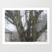 Dripping Window - Straight Art Print