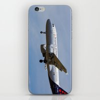 brussels iPhone & iPod Skins featuring Brussels airlines Airbus A319 by David Pyatt