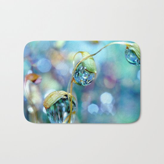 Rainbow Moss Drops Bath Mat