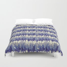 Amethyst abstract city ladscape Duvet Cover