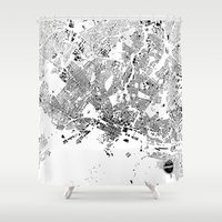 oslo Shower Curtains featuring OSLO by Maps Factory