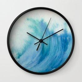 Watercolor Wave Wall Clock