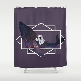 universe in whale Shower Curtain