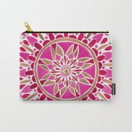 Mandala – Pink & Rose Gold Carry-All Pouch