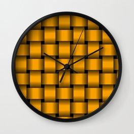 Large Orange Weave Wall Clock