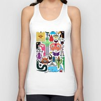 monsters Tank Tops featuring Monsters by Fran Court