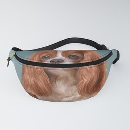 Drawing Dog Cavalier King Charles Spaniel Fanny Pack