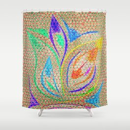 Colorful Lotus flower - uma releitura Shower Curtain