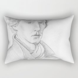Sherlock Pencil sketch Rectangular Pillow