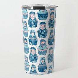 Matrioshkas Pattern Travel Mug