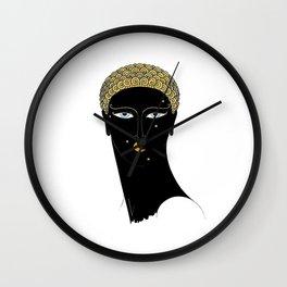 """Art Deco Design """"African Beauty"""" Wall Clock"""