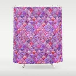 Mermaid Scales - Purple Shower Curtain